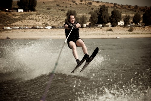 I think that for as long as I have been waterskiing, it doesn't matter how good you are... If you pull up your shorts, and act like Grandpa Horman, you will be in good shape.