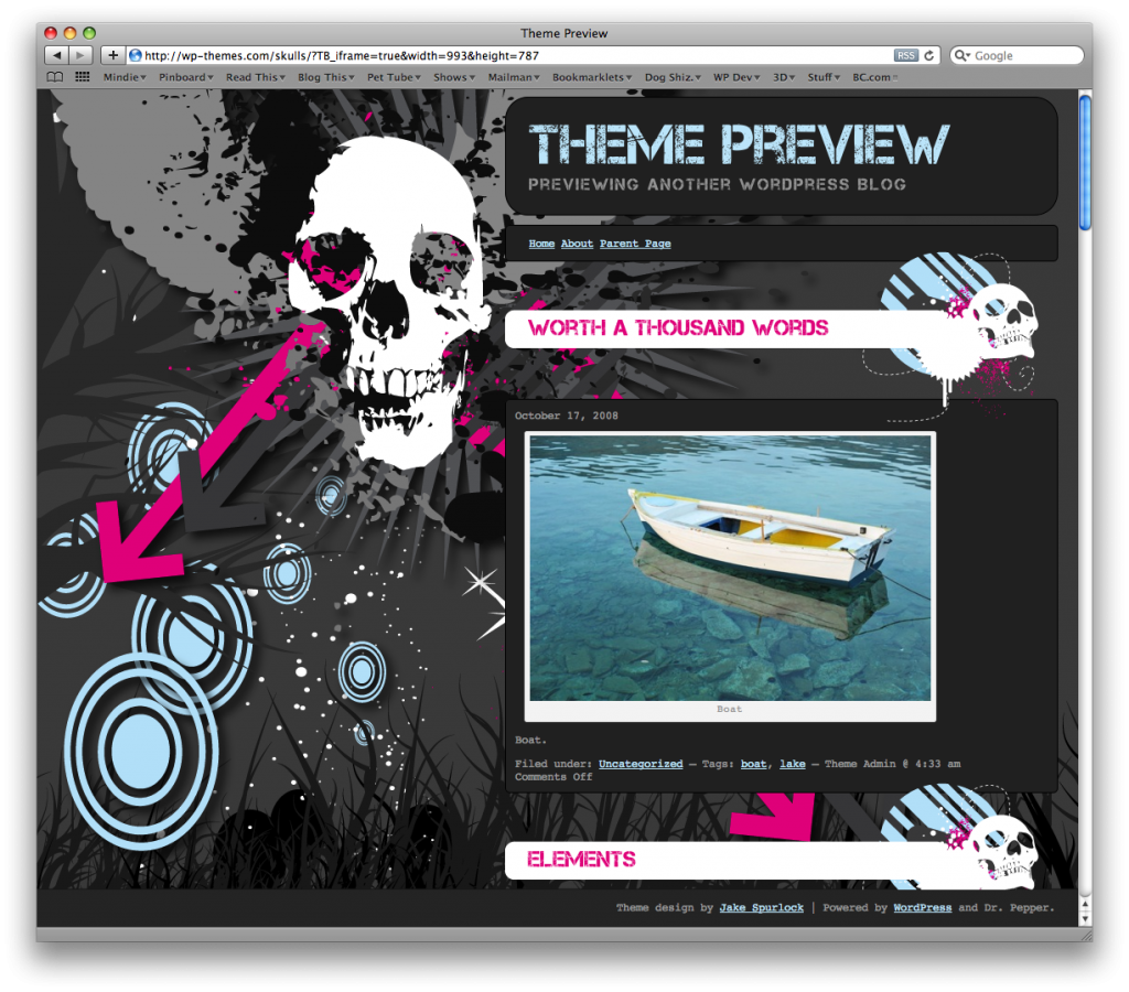 Skull WordPress Theme