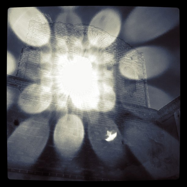 Sunlight through the bell tower