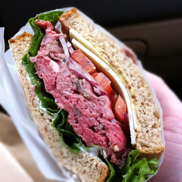 This is like the best roast beef sandwich I have ever had...