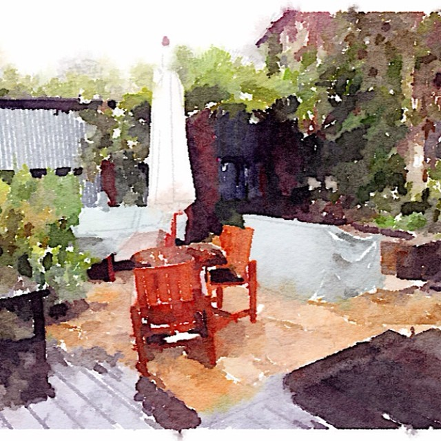 Little painting I did in between sessions at the #wpvip conference today. Beautiful place here.