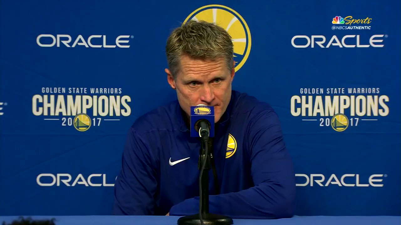 RT @NBCSWarriors: Steve Kerr is…