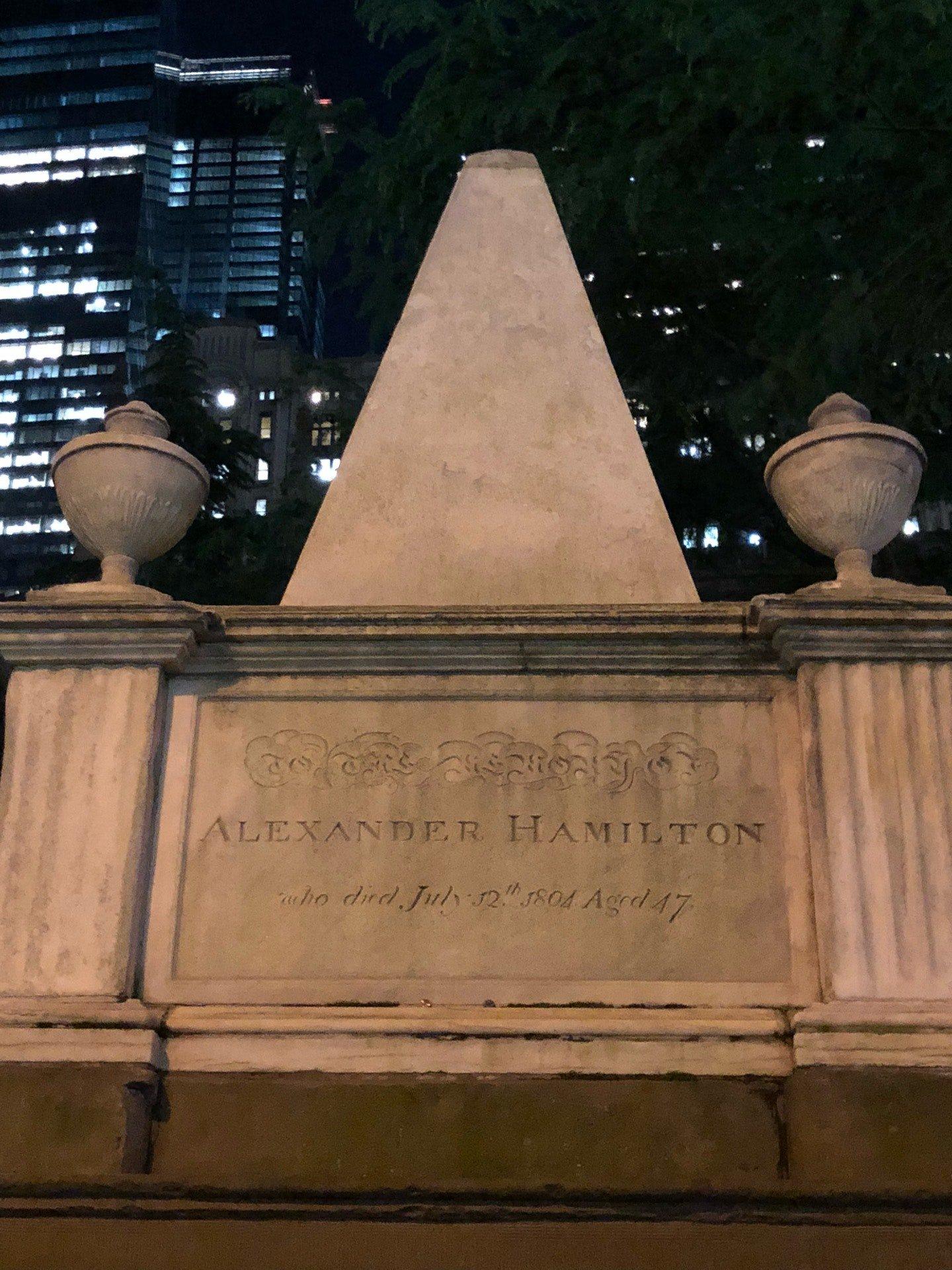 Alexander Hamilton... (@ Trinity Church…